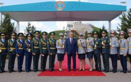 Президент Мемлекеттік туды көтеру рәсіміне қатысты