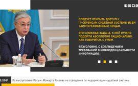 Из выступления Касым-Жомарта Токаева на совещании по модернизации судебной системы